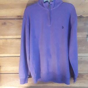 Purple Ralph Lauren ZIP down sweater
